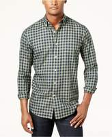 Club Room Men's Garment-Dyed Gingham Shirt, Created for Macy's