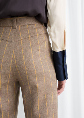 And other stories Wool Blend Striped Trousers