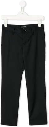 Emporio Armani Kids Slim-Fit Tailored Trousers