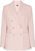 Max Mara Derrik Double-breasted Stretch-wool Blazer - Pastel pink