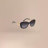 Burberry Gabardine Collection Square Frame Sunglasses