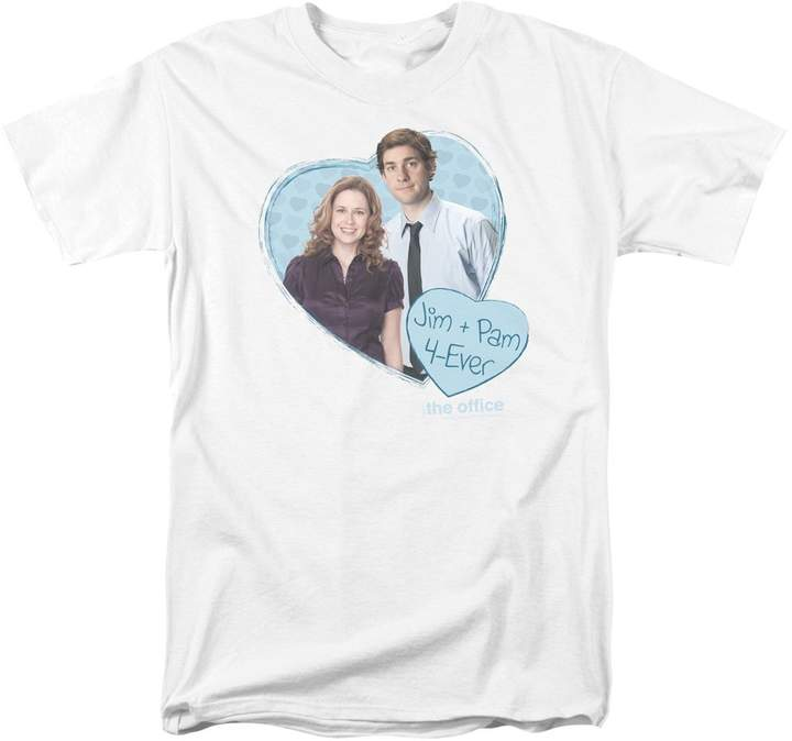 Office The Comedy Sitcom TV Series NBC Jim & Pam 4 Ever Adult T-Shirt Tee