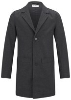 Han Kjobenhavn Men's Bankers Melton Trench Coat Grey