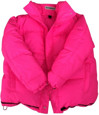 Vetements Pink Polyester Coats
