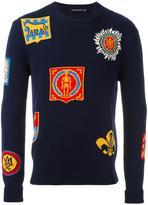 Alexander McQueen badge intarsia jumper - men - Cotton - L