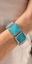 Turquoise Square Stretch Bracelet