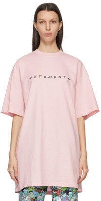 Vetements Pink Friendly Logo T-Shirt