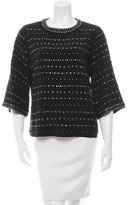Andrew Gn Embellished Long Sleeve Top