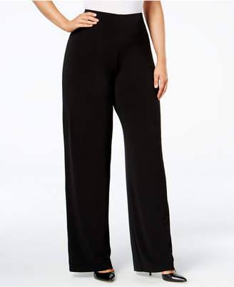 Alfani Plus Size Knit Wide-Leg Pant