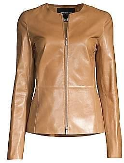 Lafayette 148 New York Women's Kayla Leather Jacket - Size 0