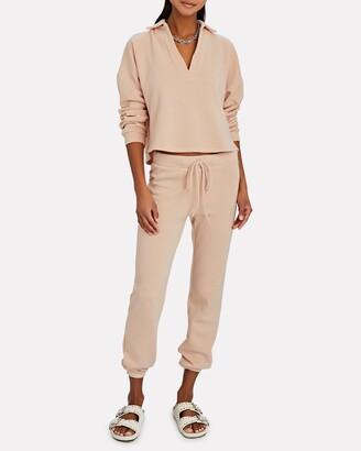Lanston Cotton Terry Polo Sweatshirt