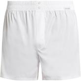 Dolce & Gabbana Elasticated-waist cotton-poplin boxer shorts