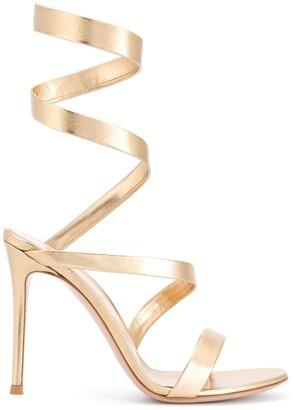 Gianvito Rossi Twist-Strap Leather Sandals