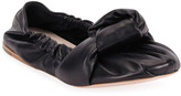 Miu Miu Knotted Leather Ballet Flats
