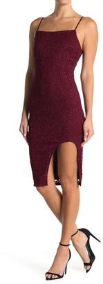 Love, Nickie Lew Glitter Lace Slit Bodycon Dress