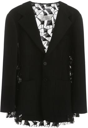 Maison Margiela Jacket With Lace Insert