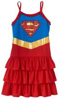 Girls 4-12 DC Comics Supergirl Tiered Nightgown