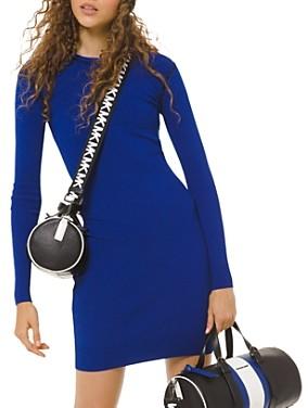 MICHAEL Michael Kors Long-Sleeve Logo Trim Mini Dress