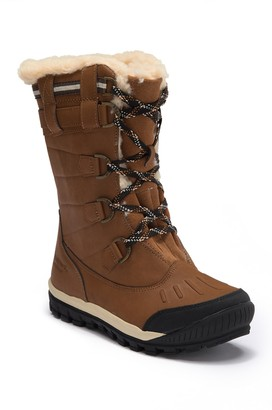BearPaw Desdemona Genuine Sheepskin Lined Lace-Up Boot