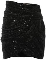 Saint Laurent Sequined velvet miniskirt