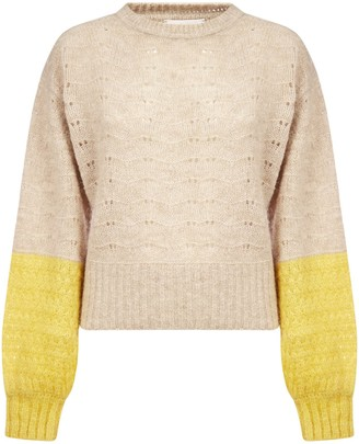 See by Chloe Color-block Alpaca And Wool-blend Sweater