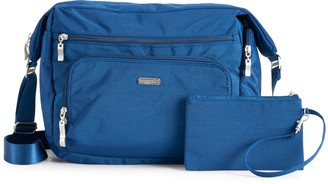 Baggallini Travel Hobo Bag with RFID-Blocking Wristlet