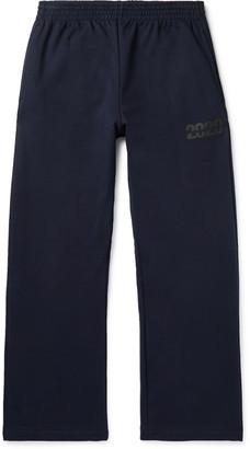 Martine Rose Wide-Leg Logo-Print Loopback Cotton-Jersey Sweatpants