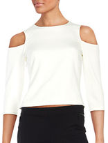 Eliza J Knit Cold-Shoulder Top