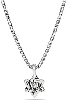 David Yurman Cable Collectibles Kids Star of David Necklace with Diamonds