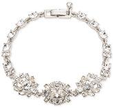 Givenchy Silver-Tone Crystal Cluster Link Bracelet