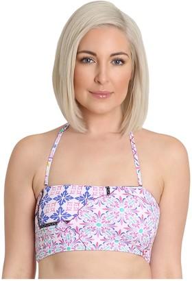 Nanette By Nanette Lepore Nanette Lepore Printed Longline Bandeau Bikini Top - Lily