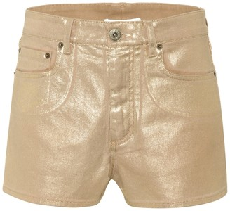 Chloã© Exclusive to Mytheresa a Coated denim shorts