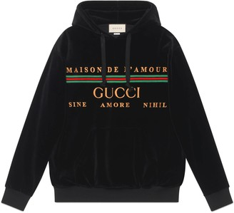 Gucci Oversize sweatshirt with embroidery