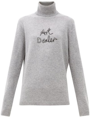 Bella Freud Art Dealer Roll-neck Cashmere Sweater - Womens - Grey