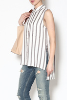 Velvet Heart Striped Sleeveless Blouse