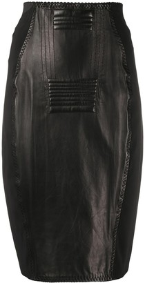 Jean Paul Gaultier Pre Owned 1987 Leather Pencil Skirt