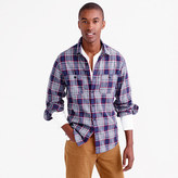 J.Crew Tall midweight flannel shirt in classic navy plaid
