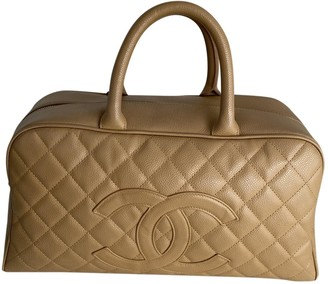 Chanel Bowling Bag Camel Leather Handbags