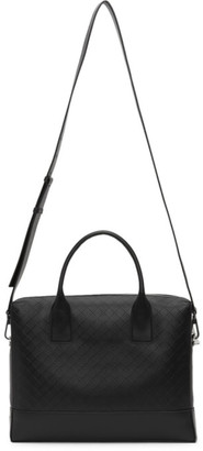Bottega Veneta Black Intarsio Briefcase