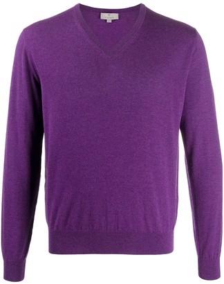 Canali v-neck cashmere jumper