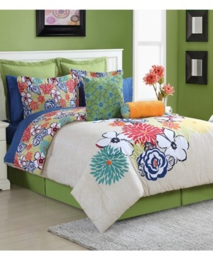 Fiesta Lucia Cotton 3-Pc. Reversible Twin Comforter Set Bedding