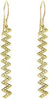 Jennifer Meyer Diamond Zig Zag Earrings - Yellow Gold