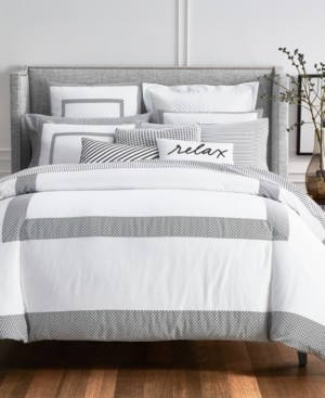Charter Club Damask Designs Colorblock Black 2-Pc. Twin Comforter Set, Created for Macy's Bedding