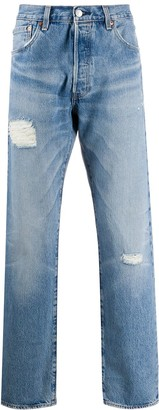 Levi's Distressed Straight-Fit Jeans