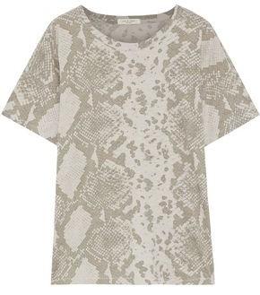 Rag & Bone Snake-print Pima Cotton-jersey T-shirt