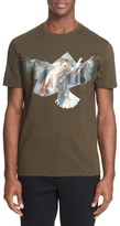 Neil Barrett Ruben's Eagle Hybrid Trim Fit T-Shirt