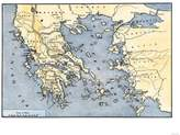 Art.com Map of Ancient Greece and its Colonies Premium Giclee Print - 46x61 cm