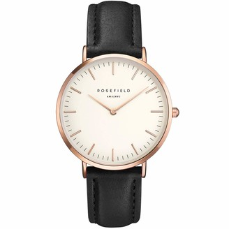 ROSEFIELD Womens Analogue Classic Quartz Watch with Leather Strap BWBLRB1