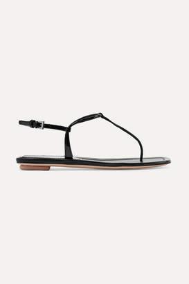 Prada Patent-leather Sandals - Black