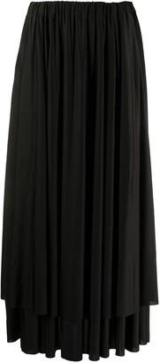 Vetements Pleated Flared Midi Skirt